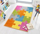 Childrens Kids Animal Orange Fox, Brown Bear, Blue Hippo, Sheep Nursery Rug