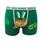 Men's Boxer Briefs Green Luck O Ireland Leprechaun Funny Cotton Irish style
