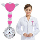 Women Lady Cute Love Heart Quartz Clip-on Fob Brooch Nurse Pocket Watch Mirable