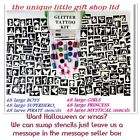 GLITTER TATTOO KIT 288 LARGE stencils 20 glitters boy girl PERSONALISED FREE