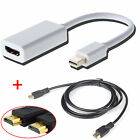 Thunderbolt Mini Display Port DP To HDMI Adapter+Cable for Apple MacBook Air Pro