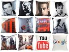 """PRINTED PHOTO CUSHION COVERS HOLLYWOOD STARS CITY SCENES CUSHION COVER 17"""" x 17"""""""
