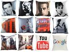 "PRINTED PHOTO CUSHION COVERS HOLLYWOOD STARS CITY SCENES CUSHION COVER 17"" x 17"""