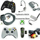 XBOX Original 360 Accessories Blue Controllers AV Power Extensions Remote Lot