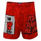 Briefly Stated Mens Red You Turn Me On Valentine's Day Kisses Boxer Short