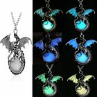 New Dragon Luminous Glow In The Dark Gemstone Chain Pendant Jewellery Necklace