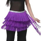 Newly Dance Hip Scarf Belly Dancing Waist Belts Three Layers Tassel Wrap Skirts