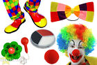 DELUXE CLOWN FANCY DRESS FUNNY CIRCUS CARNIVAL ENTERTAINER COSTUME SET BIRTHDAY