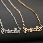 """New Fashion Jewelry Letter """"Princess"""" Clavicle Pendant Chain Choker Necklace New"""