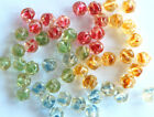 VINTAGE 12 WEST GERMANY BAROQUE NUGGET GLASS BEADS • 7mm • Assorted Givre Colors