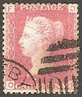 1858-79 1d ROSE-RED USED SG43/44 Plates 141-160