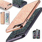 For Apple iPhone 7 Plus 7 Bling Hybrid Glitter TPU Protective Hard Case Cover