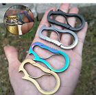 S-Shaped Stainless Steel Carabiner Key Chain Keychain Clip Hook Buckle Outdoor