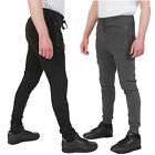 Mens Slim Fit Tracksuit Bottoms Skinny Jogging Joggers Sweat Pants Trousers Gym