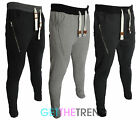 Mens Skinny Jogging Bottoms Slim Fit Joggers Tracksuit Fleece Pant Sweats Gym