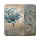 Blue Flowers 2 - Oversized Rubber Coasters Set of 4 or 6