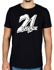 21 Savage Large Logo T-Shirt Red Opps Slaughter Gang Savage Mode