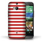 Personalized Custom Stripes-Striped Phone Case for HTC One-1 M8-Initial Cover