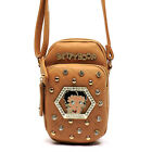 Betty Boop hexagonal Rhinestones cellphone cross shoulder case bag 6 pluss B19I $38.6 CAD