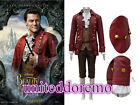Movie Beauty and the Beast Gaston Cosplay Costume Halloween Medieval Knight Suit