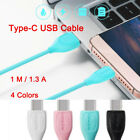 1M Type-C USB-C Cable Data Sync Charger Quick Charging Line Adapters For Phone