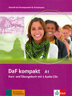 Klett DaF kompakt A1 Kurs- und Ubungsbuch mit 2 Audio CDs GERMAN FOR ADULTS @NEW