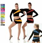Pep Squad Dance Team Costume GOLD and BLACK Cheerleader Jazz Tap Baton Clearance