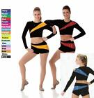 Pep Squad Dance Team Costume RED and BLACK Cheerleader Jazz Tap Baton Clearance