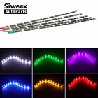 4Pcs 30CM/12 LED Car Motors Truck Flexible Strip Light Waterproof Light 12V