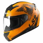 LS2 FF352 Rookie Fan Matt Black/Orange Motorcycle Helmet Full Face ACU APPROVED