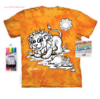Lion T-Shirt / Tie Dye Tee,I love Lions-DYI Kids Coloring Tee with pens!