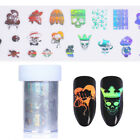 Halloween Holographic Starry Nail Foil Skull Manicure Nail Art Transfer Sticker