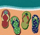 Flip Flops Needlepoint Kit or Canvas (Home)
