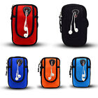 Running Sport Cycling Jogging Phone Arm Band Bag Holder Zip Wrist Pouch Wallet