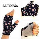 Women Flowers Half Finger Gloves Fingerless Bicycle Glove Short Cycling Outdoor