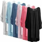 New Ladies Womens Italian Lagenlook Bell Sleeve Quirky High Low Tunic Top Dress