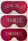 Personalised Satin Blackout Sleep Eye Mask Blindfold Hen Nights, Migraine