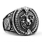 Man's Stainless Steel Ring Retro Military Army Titanium Steel Rings A452