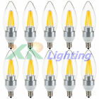 10x Retro E12 Base 2W 4W 6W Dimmable Edison Filament LED Chandelier Light Bulb