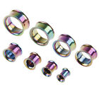 2* Stainless Steel Screw Ear Gauges Flesh Tunnels Plugs Stretchers Expander
