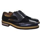 Sergio Duletti Mens Black Brogue Shoes