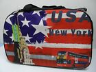 Carry On Travel Duffel Bag 21 inch with wheel New York USA flag & Statue Design
