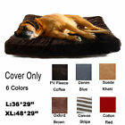 Large Dog Bed Cover  Removable Mat Pillow Mattress Pet DIY Zipped Slipcover