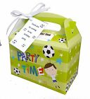 6 x Personalised Football Boys Birthday Party Favours Lunch sweet Gift Box/Bag