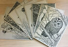 G I Woodley-Ducklington Designs-Hand Painted Postcards-Animals-Collectables-Vitg