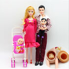 6pcs/lot Dolls Family Educational Real Pregnant Doll Happy Family for Barbie New