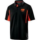 Storm Mens Trauma Performance Polo Bowling Shirt Dri-Fit Black Orange