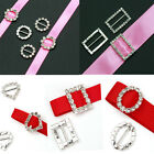 10pcs Crystal Rhinestone Buckle Invitation Ribbon Slider Wedding Supplies Decor