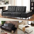 Westwood Pu Sofa Bed With Storage 3 Seater Guest Sleeper Ottoman Stool Psb04