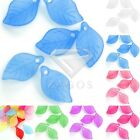 69pcs Acrylic Leaf Beads Jelly-like Jewellery Making Craft 18x11x3mm 7 Colors